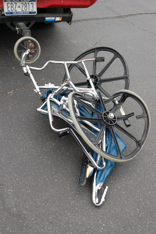 crushed wheelchair